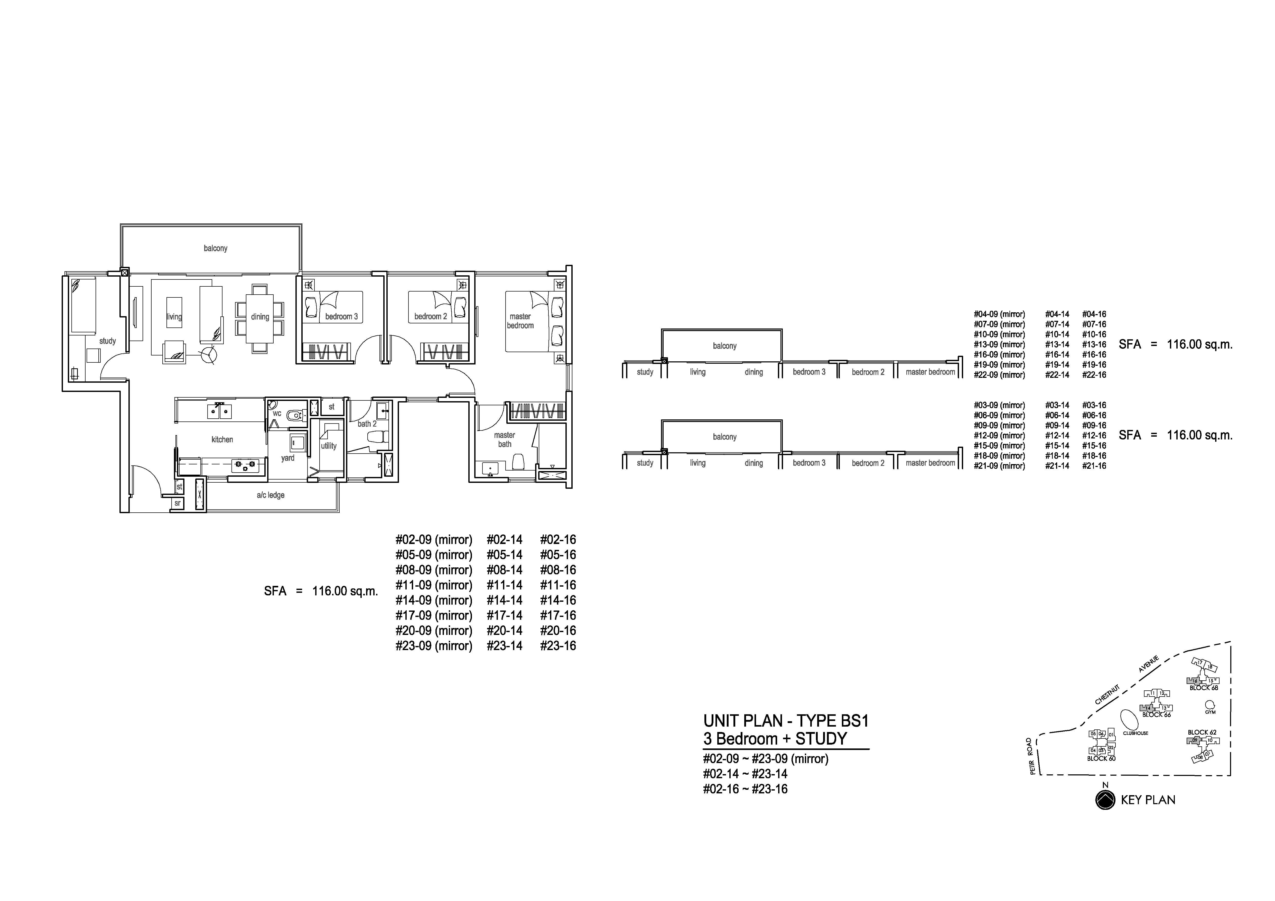 3 Bedroom+S - Tree House